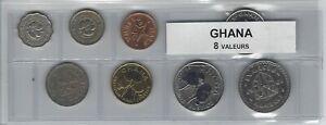 Ambitieux Ghana Série De 8 Pièces De Monnaie Assurer IndéFiniment Une Apparence Nouvelle