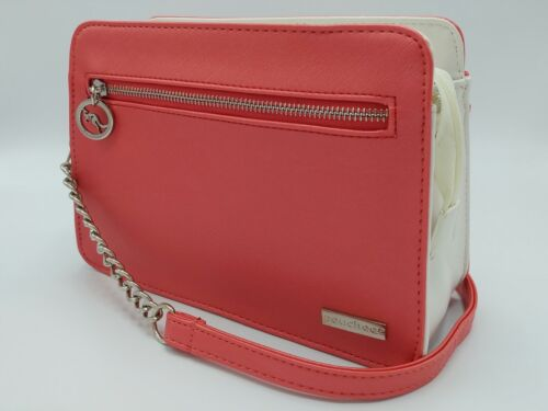 NEW POUCHEE AVI Vegan  Saffiano Leather Purse//Handbag Crossbody Organizer