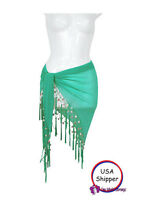 1 World Sarongs Sheer Sarong In Turquoise Green Beach Cover-up Wrap Skirt