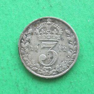 1912 George V Silver Threepence SNo53057