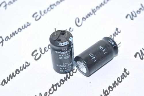4pcs NIPPON 1000uF 1000µF JAPAN 50V SM Radial Electrolytic Capacitor