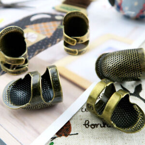Thimble-Hand-Finger-Protector-Shield-Metal-Sewing-Antique-Brass-Needles-Craft-DO