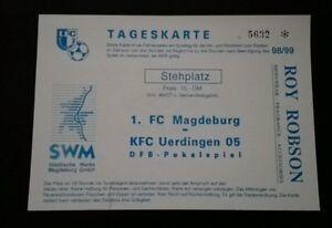 Top Ticket 1fc Magdeburg Kfc Uerdingen Dfb Pokal 1998 Krefeld Fcm