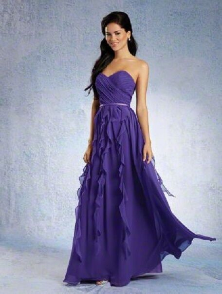 Alfred Angelo-7319-Purple-8-Bridesmaid,Mother of,Prom, Formal Occasion 928-55