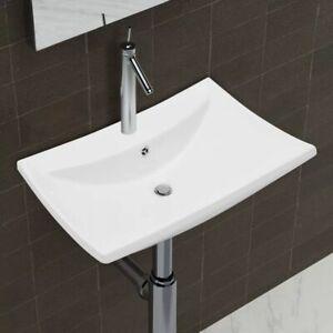 vidaXL-Ceramic-Basin-Rectangular-with-Overflow-amp-Faucet-Hole-Bathroom-Sink