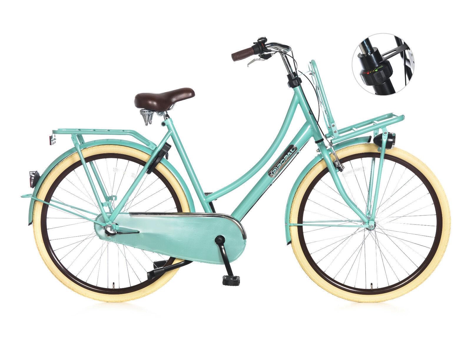 28  Daily Dutch, Vélo hollandais, Dutch Bike, turquoise 3 speed Shimano NEW