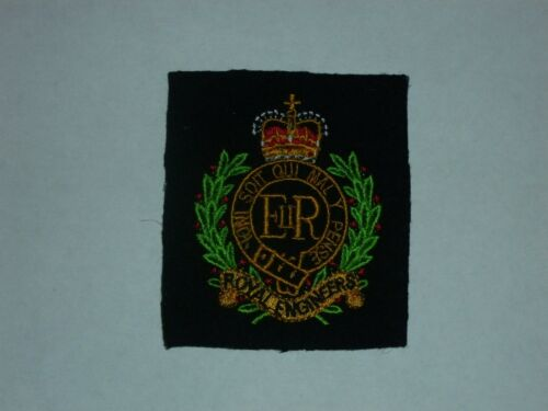SIZE 70mm x 80mm ROYAL ENGINEERS//BRITISH ARMY EMBROIDERED BLAZER BADGE NEW