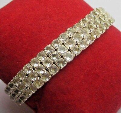 Candido Charmant Bracelet Couleur Argent Extensible Bijou Vintage Cristaux Diamant 698 Colori Armoniosi