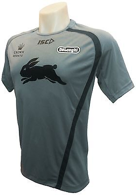 South Sydney Rabbitohs NRL Grey Training Shirt 'Select Size' S-3XL BNWT4