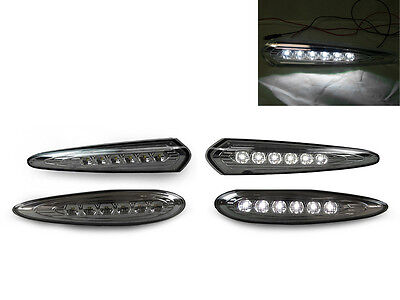 DEPO SMOKE WHITE LED FRONT + REAR BUMPER SIDE LIGHTS FOR 2000-2003 NISSAN MAXIMA