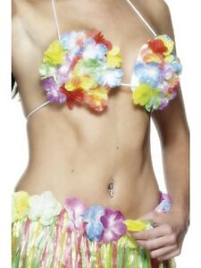 Hawaiian-Fancy-Dress-Luau-Floral-Sea-Shell-Bra-Beach-Party-New-by-Smiffys