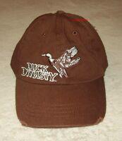 Duck Dynasty Commander Brown 100% Cotton Hat Cap A&e Velkro Closure