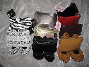Sidekicks Foldable Ballet Style Shoes Matching Zipper Case Travel NEW!