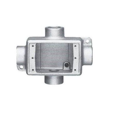 Eaton Crouse-Hinds FDX2 Condulet Single Gang Cast Device Box MTING LUGS 3//4-Inch