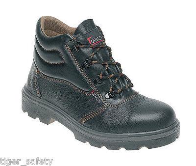Toesavers 2500 Ladies Black Slip On Microfibre Steel Toe Cap Work Safety Shoes