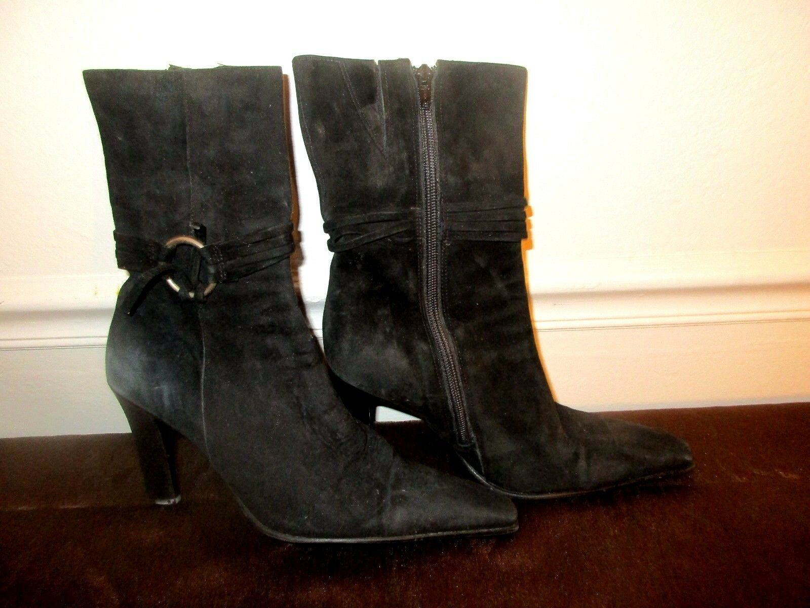 Women's BP Becky-Lea Black Leather upper Boots size 8.5 M*