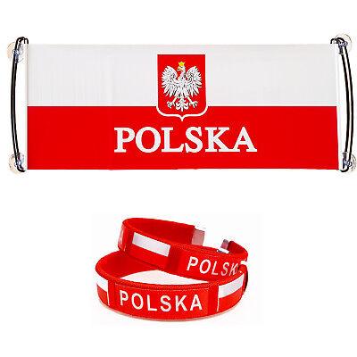 Leder Armband Polen Flagge Fan Euromeisterschaft 2020  Neu Handgemachte