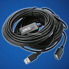 Active USB 2.0 Male/Female Type A Extension Cable Wire Cord-50Ft,Feet,Foot-Black