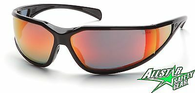 PYRAMEX EXETER RED MIRROR ANTI FOG SAFETY GLASSES SUNGLASSES SB5155DT BOX OF 12
