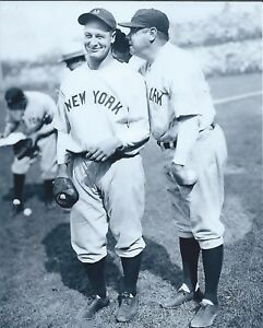"""Yankees Stadium 1926 World Series Babe Ruth /& Rogers Hornsby 8/"""" x 10/"""" Photo"""
