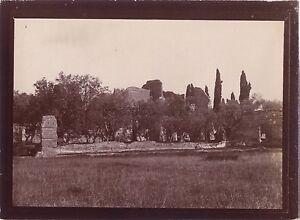 Roma Italia Foto amatore Viaggio in Italia 1898 Vintage citrato
