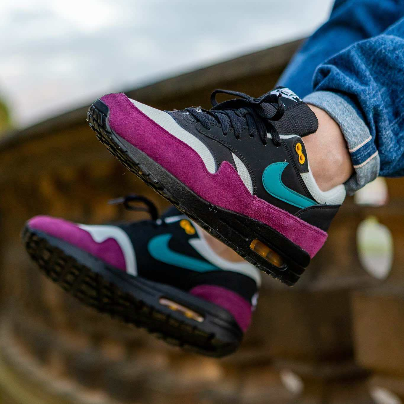 NIKE AIR MAX 1  GEODE TEAL  (319986 040) UNISEX TRAINERS UK 5-8