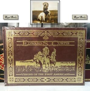 VISIONS OF FIRST AMERICANS - Easton Press - Edward Curtis - OVERSIZED BOOK