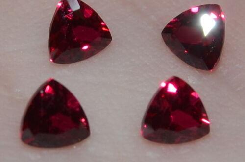A Single Gorgeous 4mm VVS Trillion Cut Genuine Red Ruby!!!