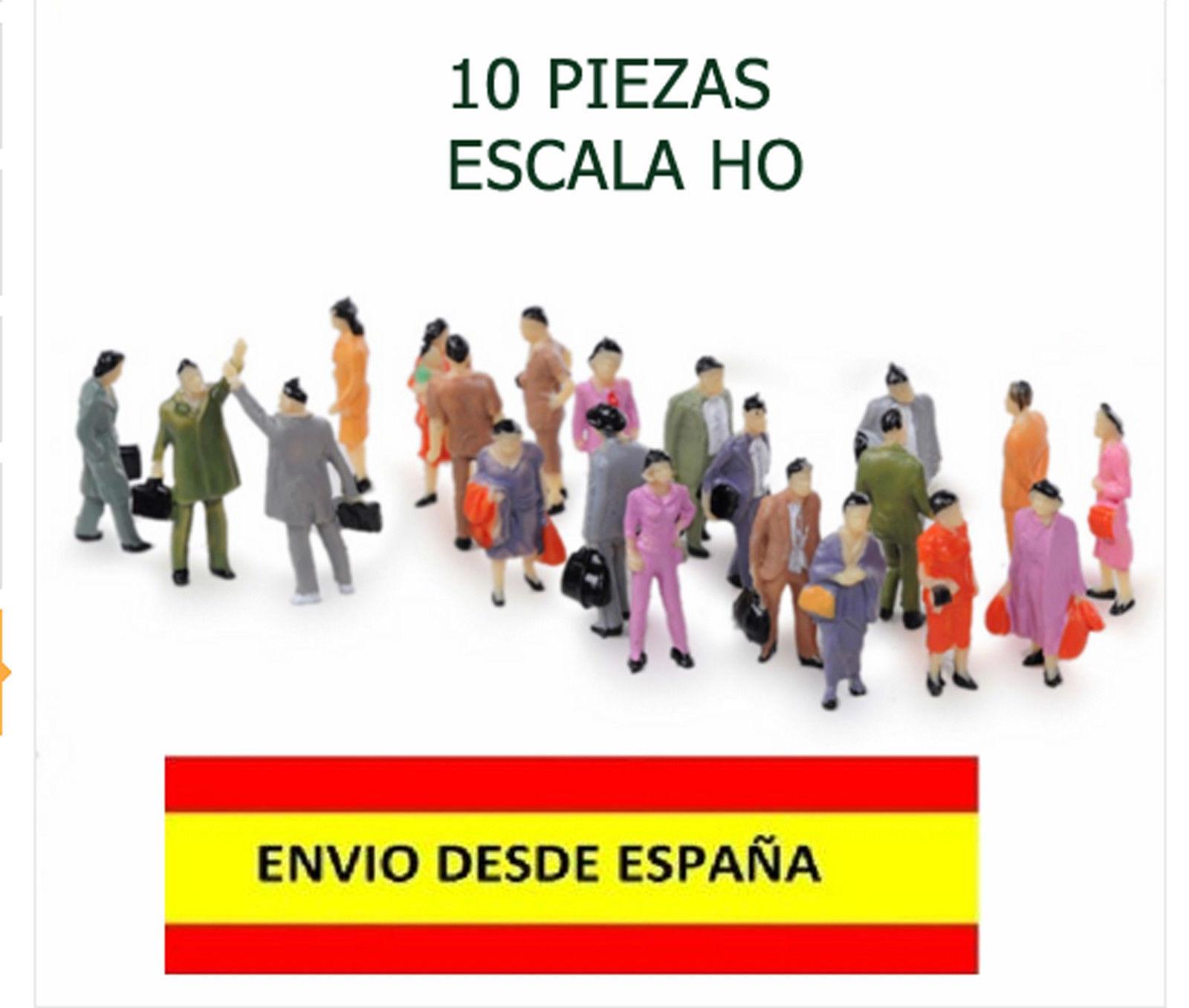 TRENES ESCALA HO 1:100 LOTE DE 10 PIEZAS FIGURAS HUMANAS ESCALA HO...