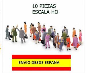 TRENES-ESCALA-HO-1-100-LOTE-DE-10-PIEZAS-FIGURAS-HUMANAS-ESCALA-HO-MUY-BELLAS