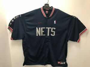 the best attitude cb38a f8ea9 Details about Nike Rewind 1980 NBA Warm Up Jacket - New Jersey NETS