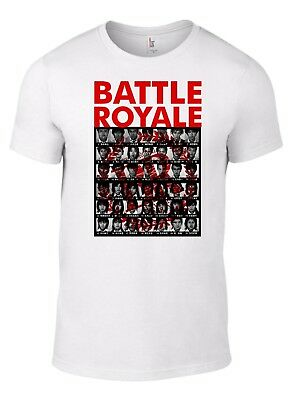 Battle Royale Film T-Shirt horror SciFi movie Cult poster Japanese bruce lee B