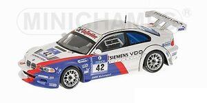 Bmw M3 Gtr Motorsport Muller Stuck Lamy Vainqueur 24h Adac 2004 Modèle 1:43
