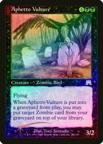 Aphetto Vulture FOIL Onslaught NM Black Uncommon MAGIC GATHERING CARD ABUGames