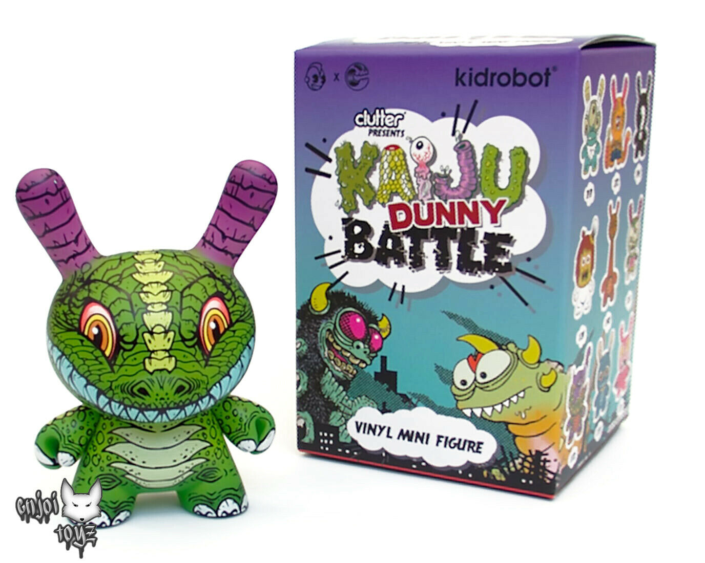 Dunnysaurus Rex by James Groman - Kidrobot x Clutter Kaiju Dunny Battle Series