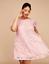 Lane-Bryant-Flutter-Sleeve-Swing-Dress-Plus-14-16-18-10-Deep-Blush-Pink-1x-2x thumbnail 1