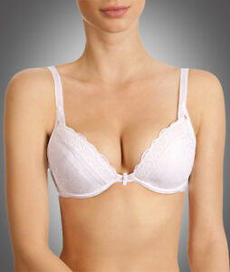 Wonderbra Chic Lace Satin Lined Push-Up   Plunge Multiway White Bra ... 21a809d1b0b