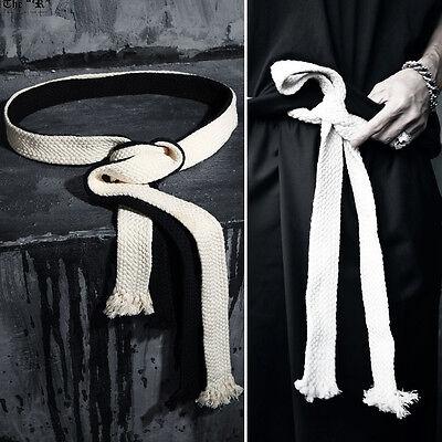 ByTheR Men's Fashion ByTheR Flat Rope Belt Gothic Onesize Vintage P000BIRW