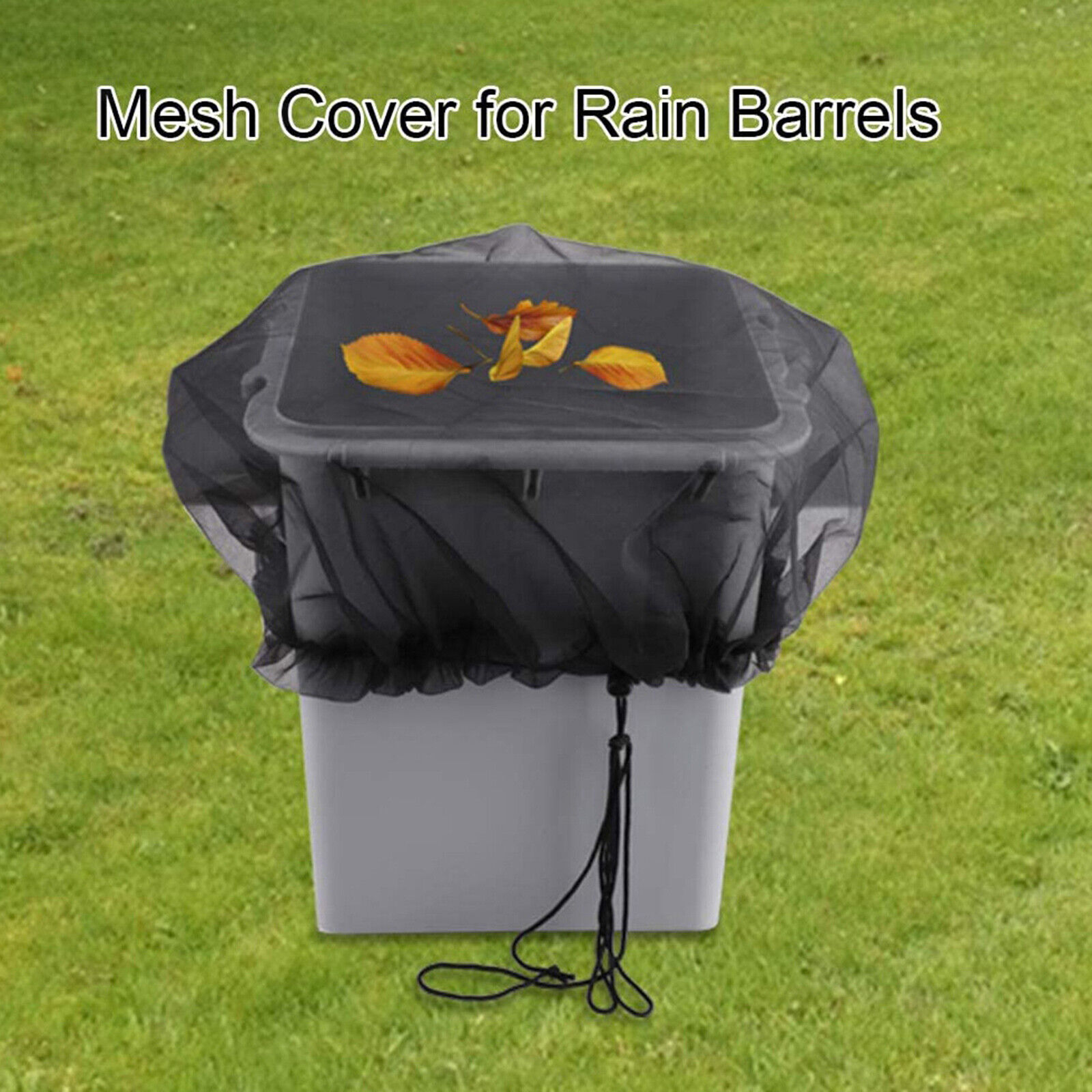 Mesh Cover Netting for Rain Barrels Rainwater Collection System Easy Install