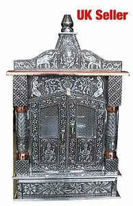 Oxidised-Copper-Puja-Pooja-Mandir-Hindu-Temple-12-W-X-6-D-X-23-H-UK-Seller