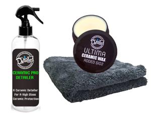 Ceramic Detailer Elite Coating + ULTIMA Ceramic Wax Added SIO2 Car Wax Kit Cloth