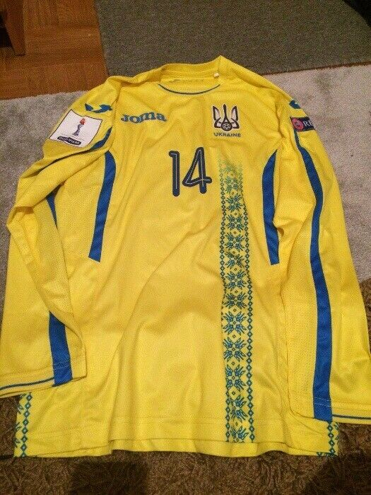 T-Shirt Match Worn Ukraine Jersey Ucraina Shirt Joma Original Ucraina