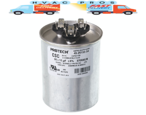 NEW Motor Round Dual Run Capacitor 80 10 uf MFD 370 Volt Diversitech 3GR1080