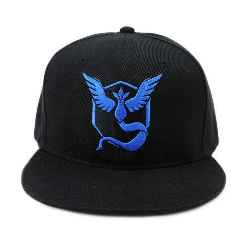 Pokemon Go cosplay Baseball Black Hat Team Mystic InstInct Valor Embroidery Cap
