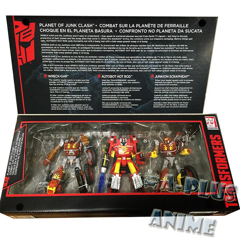 100% Hasbro Transformers Planeta Basura choque Platiun Hot Rod Wreck Gar desguace
