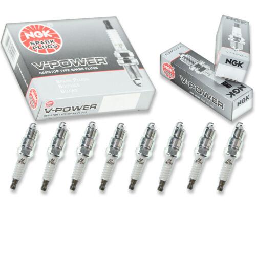 8pcs NGK 6630 V-Power UR4 Inboard Marine Spark Plug Tune Up Kit Set un