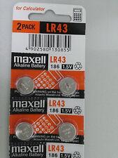 Maxell LR43 186 D186A LR1142 RW84 GP186 AG12 Alkaline Battery x10pcs Air Ship