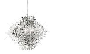 Hängelampe Schlafzimmer Pendel Lampe Pendelleuchte Silber Acryl E27 ...