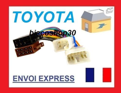 CAble adaptateur ISO Corolla Verso 2004-/> Cressida 1989-1992 Echo 2000-2003