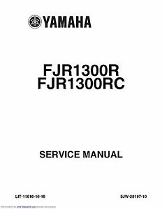 2008 yamaha fjr1300 motorcycle service manual.